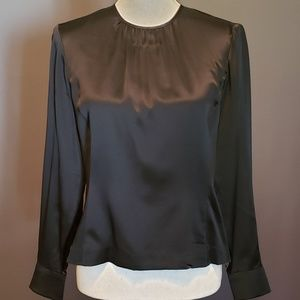 Talbots Collection Petite Black Silk Blouse